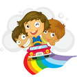 Kids in a car vector image vector image