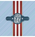 labor day label on striped background vector image vector image