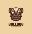 logo bull dog simple mascot style vector image vector image