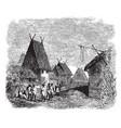 Madagascar village vintage vector image