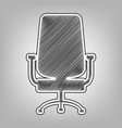 office chair sign pencil sketch imitation vector image vector image