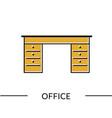 office desk furniture line icon vector image vector image