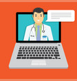online doctor medical consultation vector image vector image