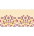 Ornamental colorful tulips horizontal seamless vector image vector image