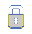 padlock object to security and protection symbol vector image vector image