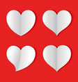 paper heart love background icon banner sign vector image vector image