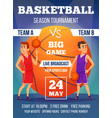 poster invitation at basketball championship vector image vector image
