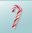 poster with candy cane lollipop vector image