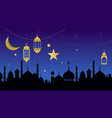 ramadan kareem greeting card and banner islamic vector image vector image