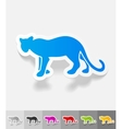 realistic design element cheetah vector image vector image