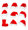 Red santa hats and boot vector | Price: 1 Credit (USD $1)