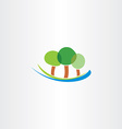 river and trees icon landscape logo icon vector image vector image