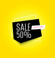 sale up to 50 off geometric banner vector image vector image