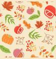 seasonal harvest abstract seamless pattern vector image