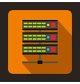 Servers icon in flat style vector image vector image