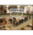 shopping time hipster blur background 2 vector image