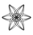 six petal flower icon simple style vector image