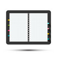 Squared diary - sketchbook symbol