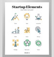 start up elements linecolor pack vector image vector image