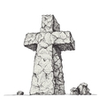 Stone cross vector image vector image