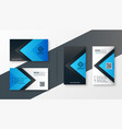 stylish blue modern business card design vector image vector image