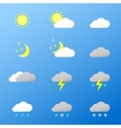 Universal color icons Weather vector image