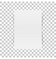 vertical white paper document mockup vector image