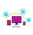 virus computer vector image