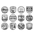 wine production winery farm and store icons vector image