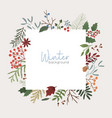 winter botanical background xmas color vector image vector image