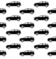 Black and White Car silhouette vector image