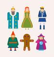 fairy tale characters cartoon flat isolated vector image