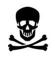 Jolly Roger logo design template human vector image