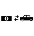 money buy car vector image