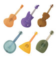 musical stringed instruments in cartoon style vector image