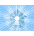 home keyhole ray vector image