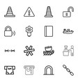 16 security icons vector image vector image