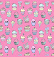 a seamless pattern cakes vector image vector image