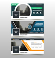 abstract triangle corporate business banner set vector image