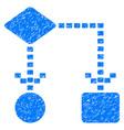 algorithm scheme grunge icon vector image vector image