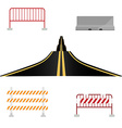Asphalted road and barriers vector image vector image