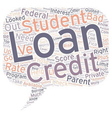 Bad Credit Student Loan Can Be A Godsend text vector image vector image