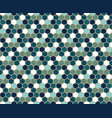 blue colorful hexagon geometric pattern vector image