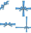 Blue gold bow templates EPS 10 vector image vector image