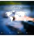 Blurred landscape background card Travel concept vector image vector image