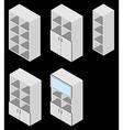 Book cupboard isometric vector image vector image