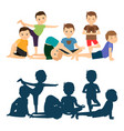 boys yoga training vector image