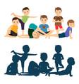 boys yoga training vector image vector image