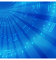 bright blue music background with rays vector image