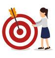 business people with target arrow training icon vector image